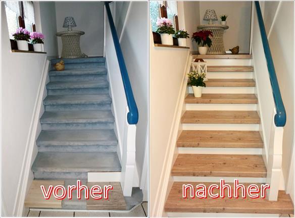 Treppen Modernisierung Renovierung Beispiele Vorher Nachher Lies